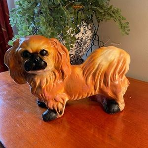 Vintage chalkware carnival dog 1940's collectible